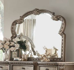 Acme Furniture 26936 Northville Mirror In Antique Champagne