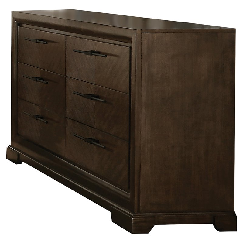 Acme 24095 Selma 6 Drawer Dresser In Tobacco