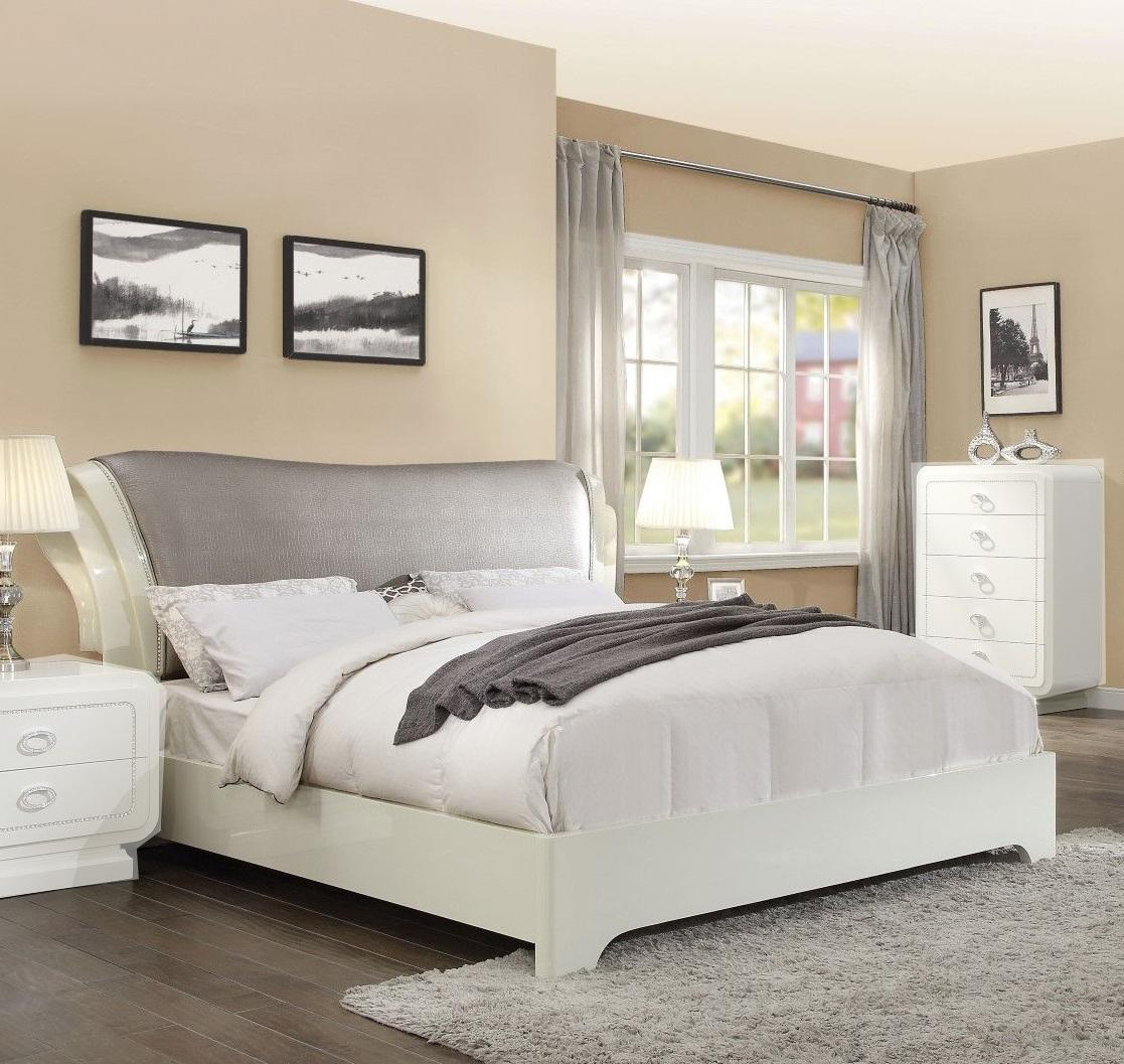 Acme 20390Q Bellagio High Gloss Finish Queen Bed