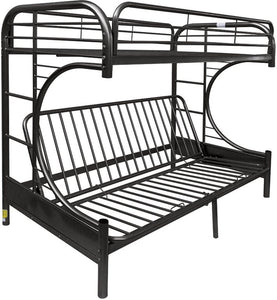 Acme 02091W-BK Black Youth Eclipse Twin over Full Futon Bunk Bed
