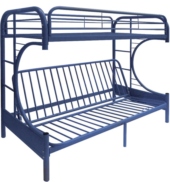 Acme 02091B-NV Navy Youth Eclipse Twin over Full Futon Bunk Bed