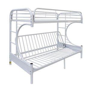 Acme 02091B-WH White Youth Eclipse Twin over Full Futon Bunk Bed
