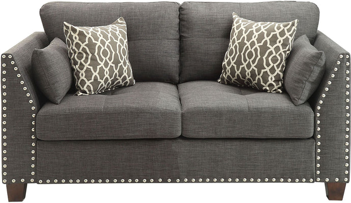 Acme 52406 Laurissa Light Charcoal Finish Fabric Love Seat