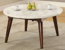 Load image into Gallery viewer, Acme Furniture 82890 Gasha Coffee Table in White Marble & Walnut