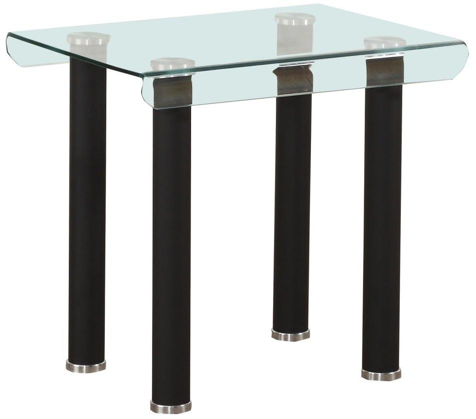 Acme Furniture 83676 Gordie End Table in Black & Clear Glass
