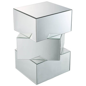 "Acme 80272 Meria 20"" Square Mirrored End Table"