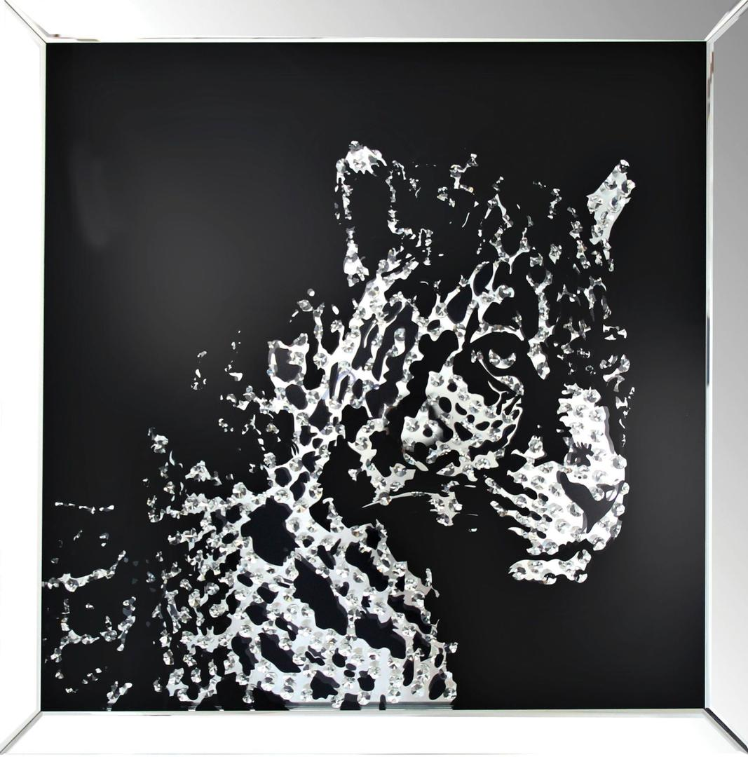 Acme 97316 Furniture Nevina Crystal Leopard Wall Art