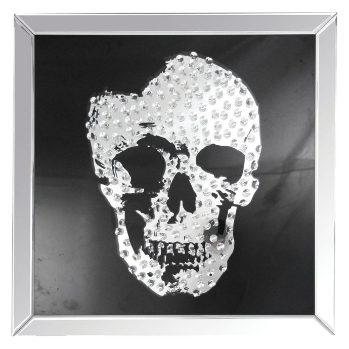 Acme Furniture 97315 Nevina Crystal Skull Wall Art