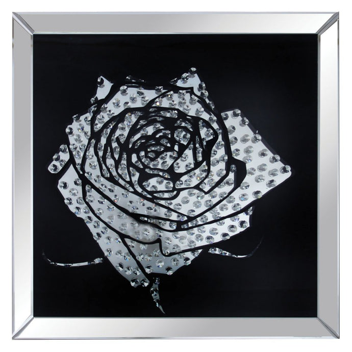 Acme Furniture 97320 Nevina Crystal Rose Wall Art