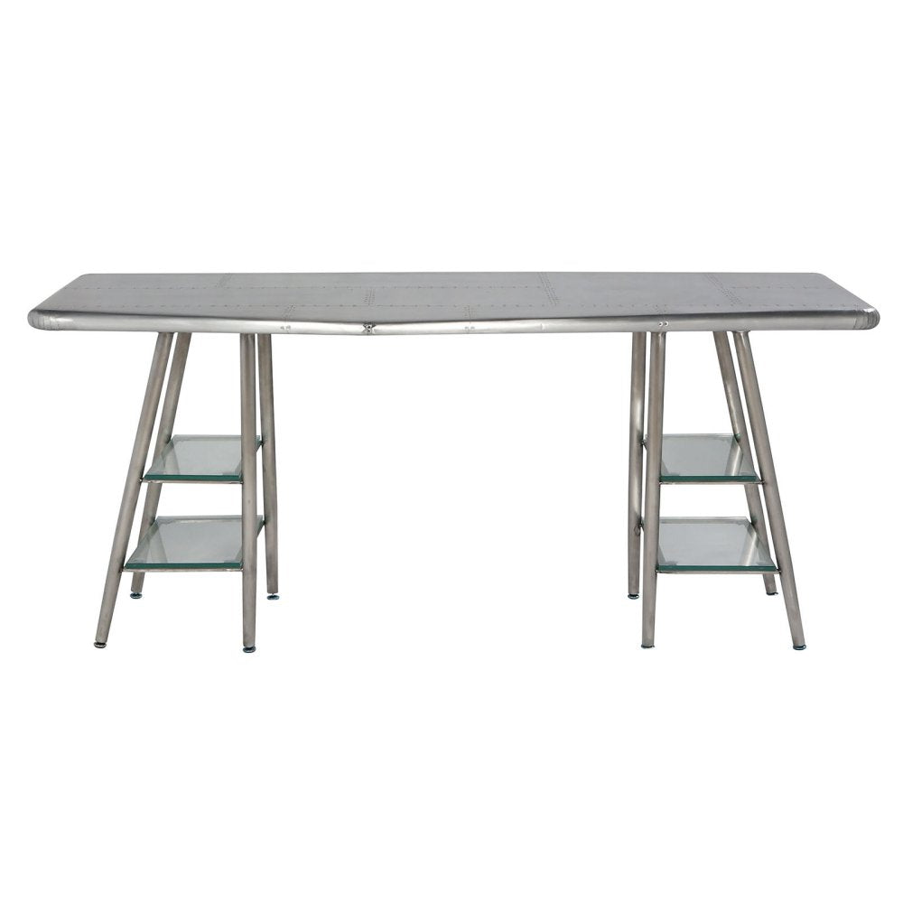 Acme Furniture 92790 Brancaster Silver Aluminum Desk