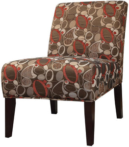 Acme 59395 Furniture Aberly Multicolor Finish Armless Accent Chair
