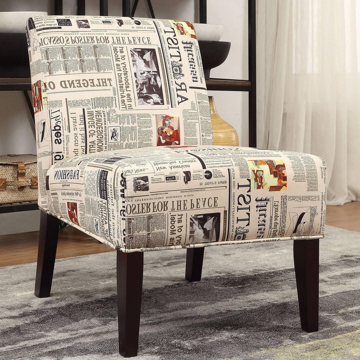 Acme 59397 Furniture Aberly Multicolor Finish Armless Accent Chair