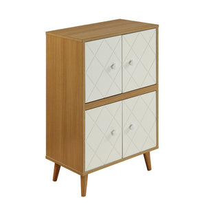 Acme 97155 Airlia Natural & White Finish Cabinet Table