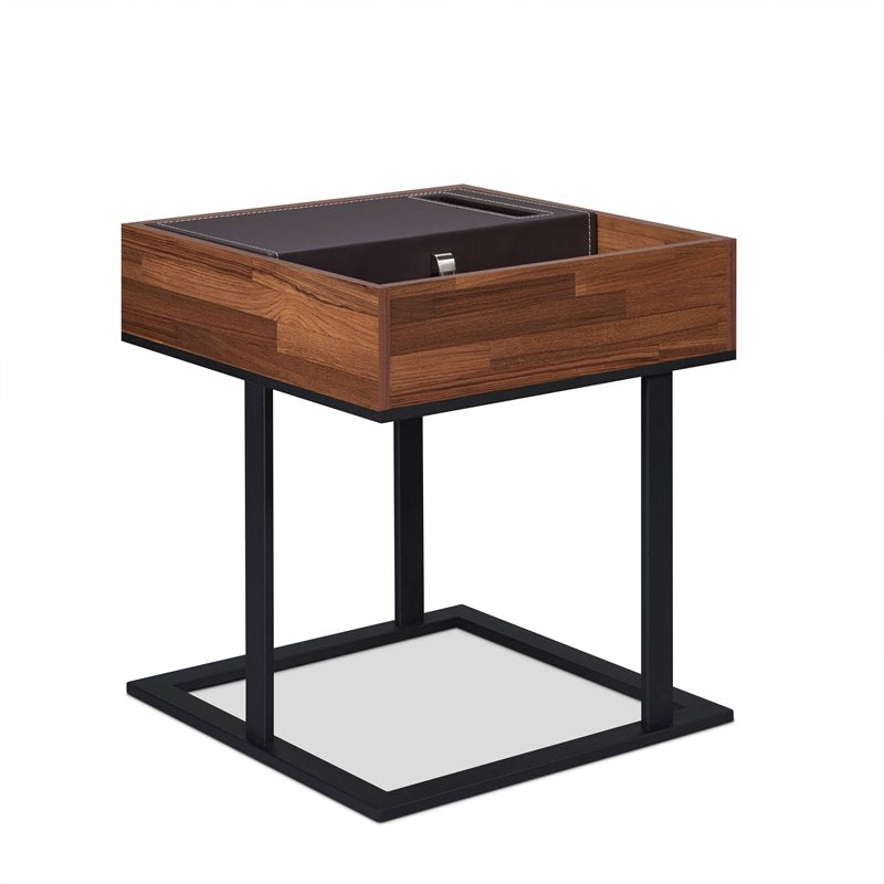Acme 83895 Amsoupet Walnut Wood Finish End Table