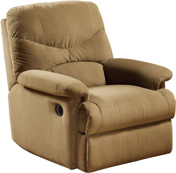 Acme 00627W Arcadia Brown Fabric Finish Recliner Chair