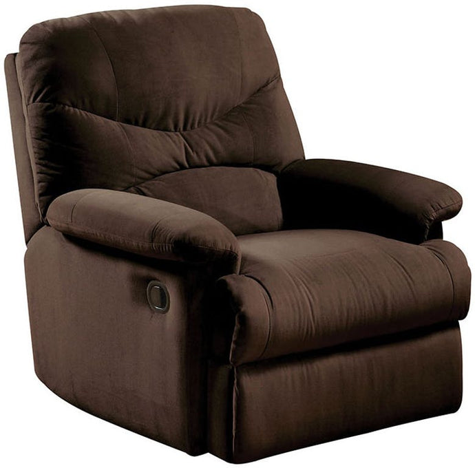 Acme 00632W Arcadia Choclate Fabric Finish Recliner Chair