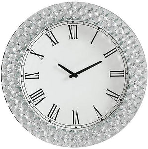 Acme 97043 Lantana Silver Mirrored Finish Wall Clock