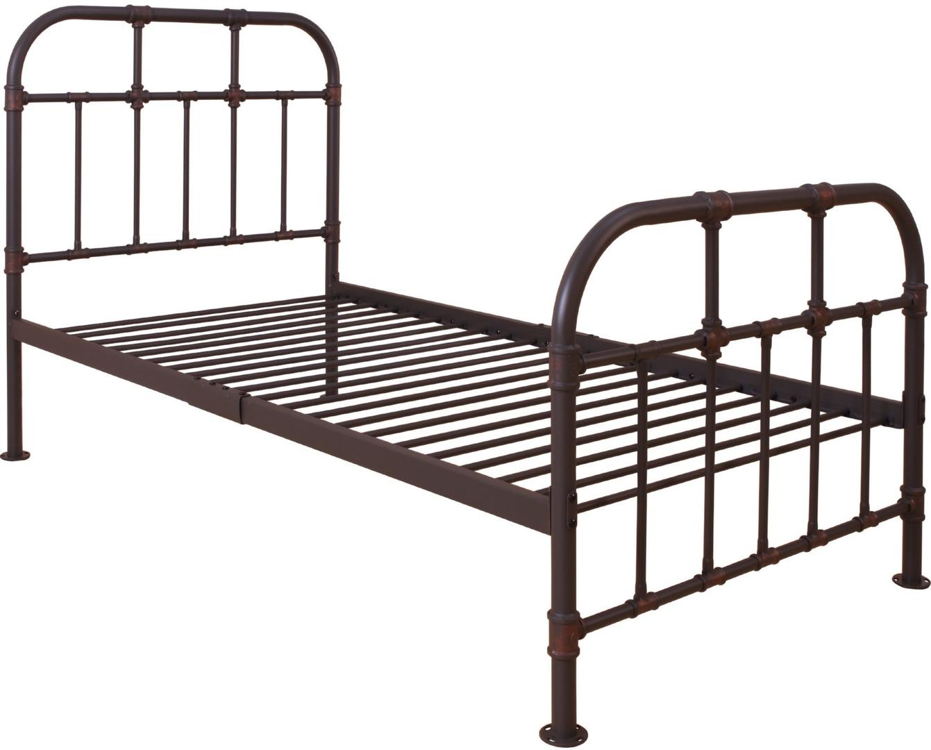 Acme 30730T Nicipolis Grey Metal Finish Twin Bed