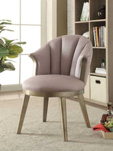 Load image into Gallery viewer, Acme 59562 Brecken Gold & Beige Fabric Finish Accent Chair