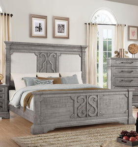 Acme 27084CK Artesia Natural Wood Finish California King Bed