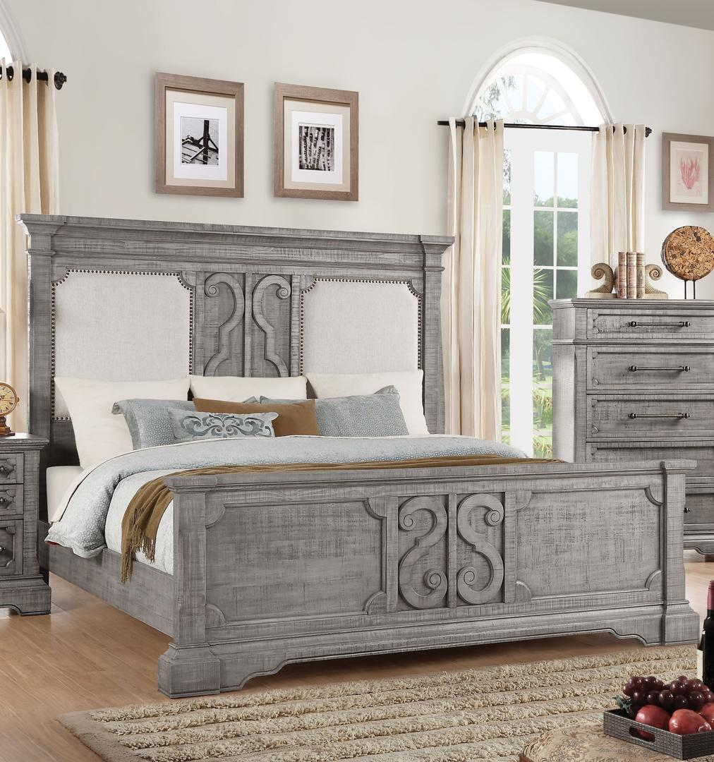 Acme 27087EK Artesia Natural Wood Finish Eastern King Bed