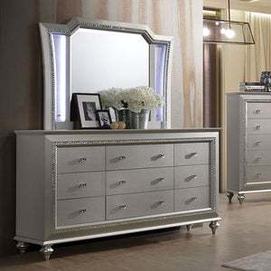 Acme 27235 Kaitlyn Beige Wood Finish Dresser With Mirror