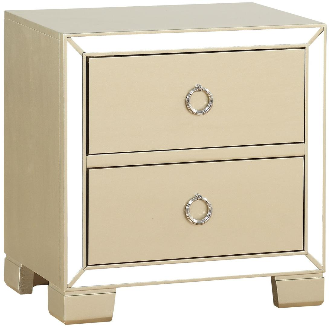 Acme 27143 Voeville II Champagne Wood Finish Nightstand