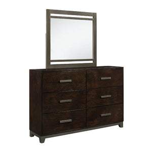 Acme 26685 Charleen Walnut Wood Finish Dresser With Mirror