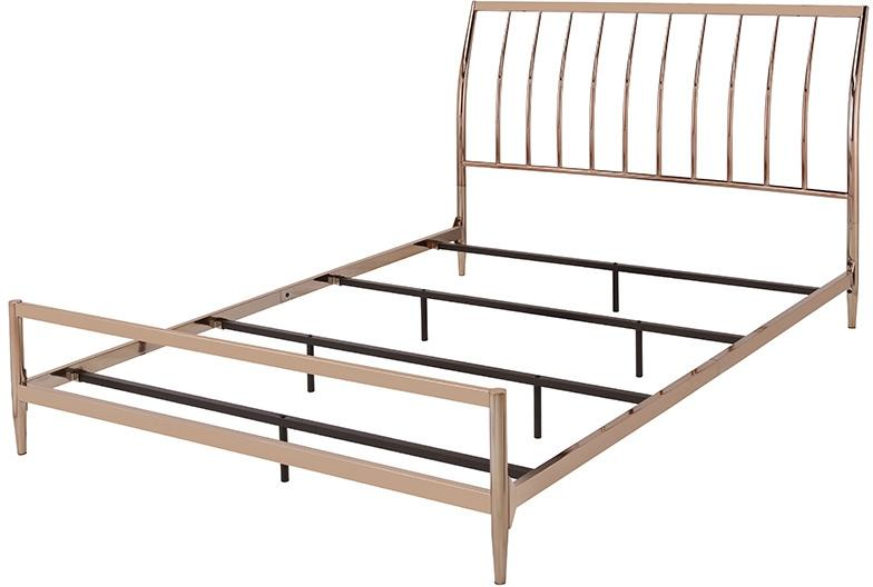 Acme 22690Q Marianne Brown Metal Finish Sleigh Queen Bed
