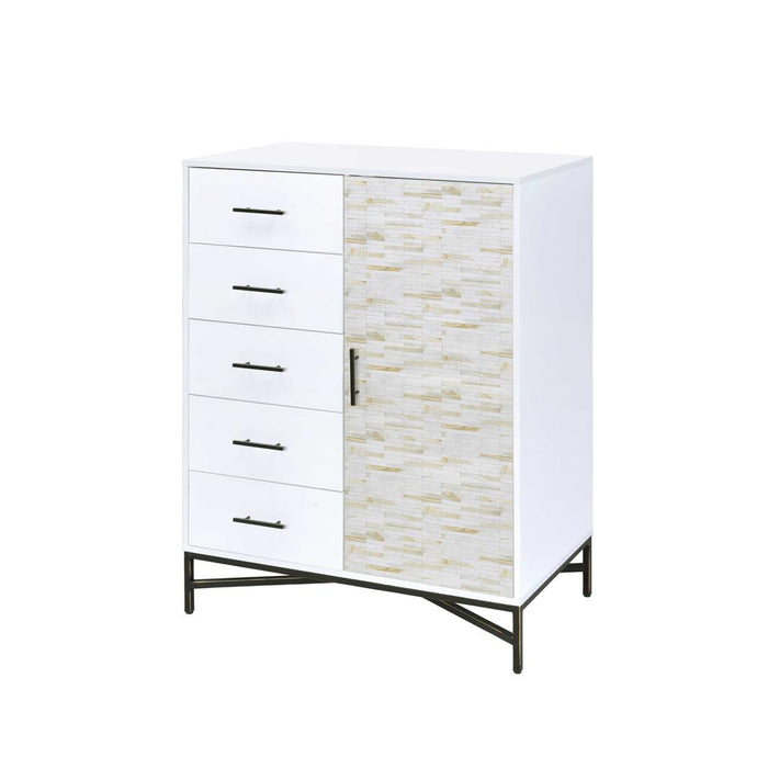 Acme 97453 Uma White Wood Finish Contemporary Wardrobe