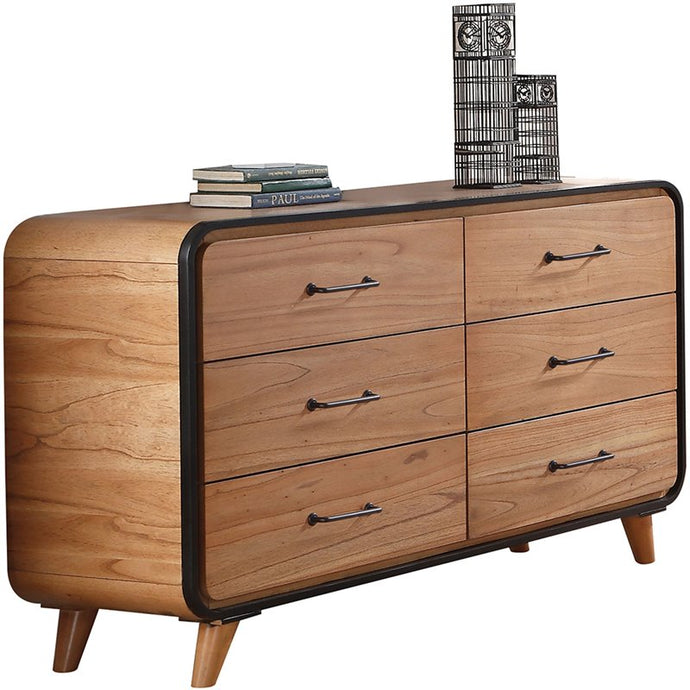 Acme 30765 Carla Oak Wood Finish 6 Drawer Dresser
