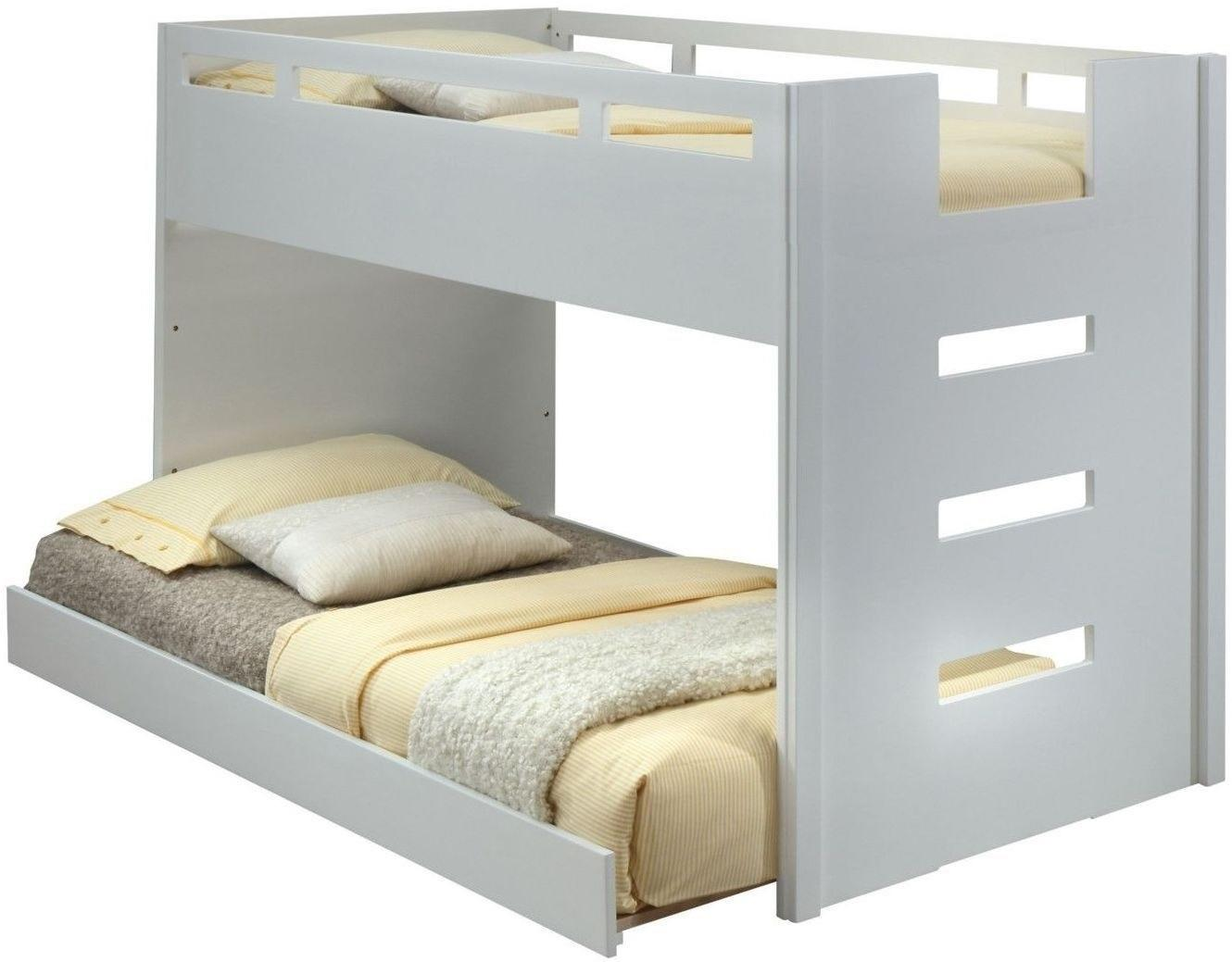 Acme 37470 Deltana White Wood Finish Twin Loft Bed With Trundle