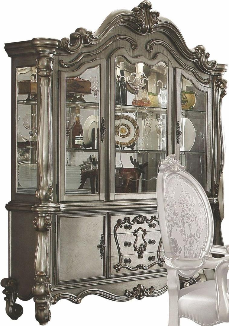 Acme 66824 Versailles Silver Wood Finish Hutch And Buffet