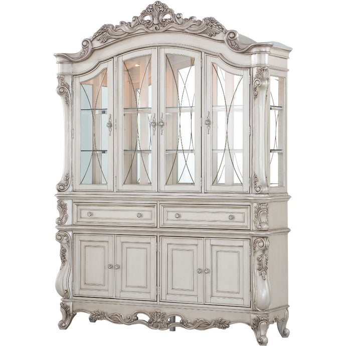 Acme 67444 Gosedd Cream Wood Finish China Cabinet