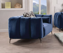 Load image into Gallery viewer, Acme 50437 Hellebore Blue Velvet Finish Contemporary Chair