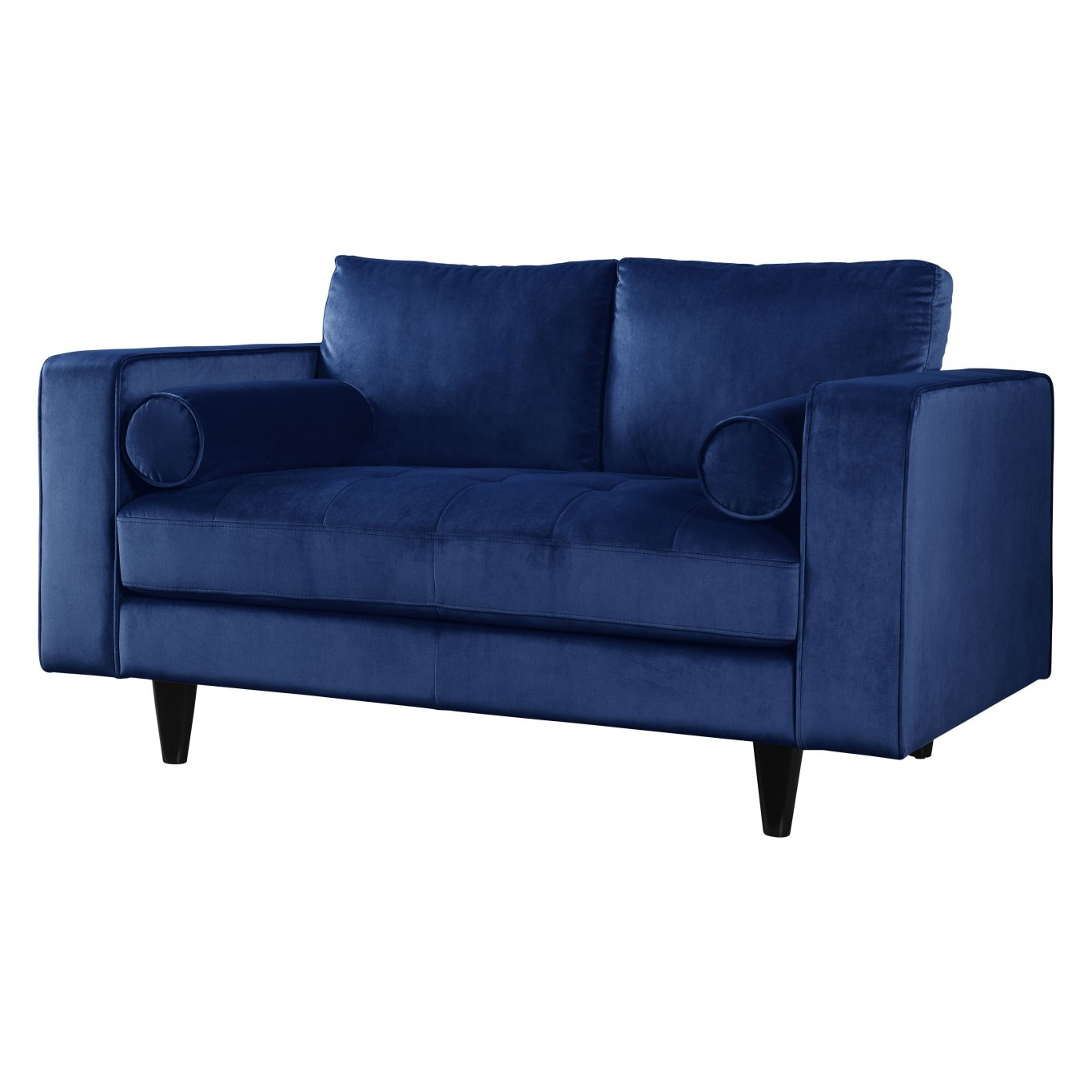 Acme 51076 Heather Navy Velvet Finish Transitional Loveseat