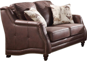 Acme 52066 Nickolas Chocolate Microfiber Finish Loveseat