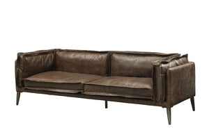 Acme 52480 Porchester Chocolate Leather Finish Sofa