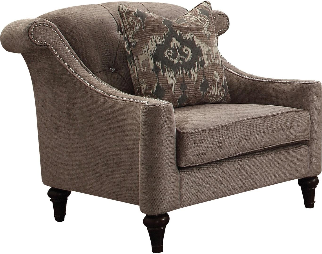 Acme 52867 Colten Gray Fabric Finish Vintage Chair
