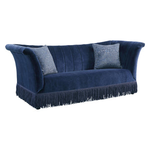 Acme 53270 Kaffir Blue Fabric Finish Vintage Sofa