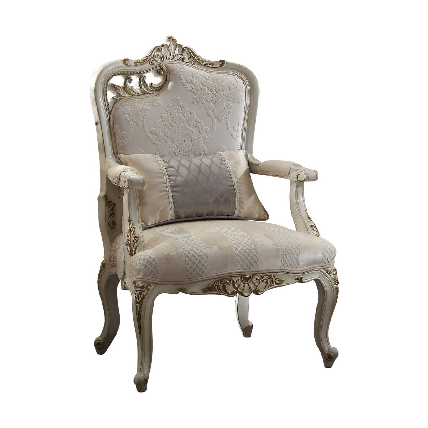 Acme 56883 Picardy Beige And Gold Fabric Finish Left Facing Chair
