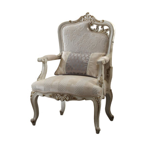 Acme 56884 Picardy Beige And Gold Fabric Finish Right Facing Chair
