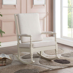 Acme 59524 Tristin White Fabric Finish Accent Chair