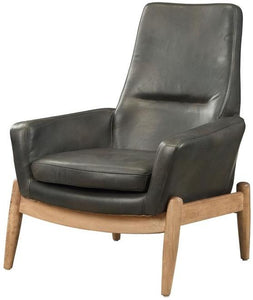 Acme 59533 Dolphin Black Leather Finish Accent Chair