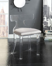 Load image into Gallery viewer, Acme 59820 Bradley Gray Velvet And Acrylic Finish Accent Chair
