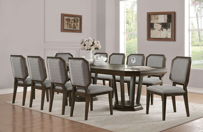Acme 64090 Selma Espreso Wood Finish 11 Piece Dining Table Set