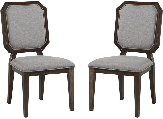 Acme Selma Espresso And Gray Wood Finish 2 Piece Dining Chair