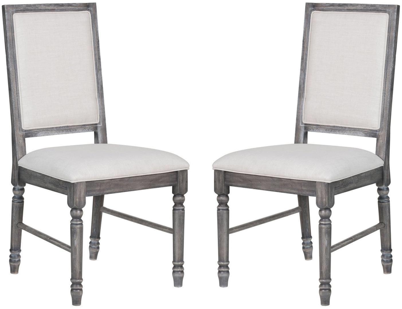 Acme 66182 Leventis Gray Wood Finish 2 Piece Dining Chair