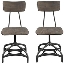 Load image into Gallery viewer, Acme Jonquil Gray And Oak Wood Metal Finish 2 Piece Dining Chair