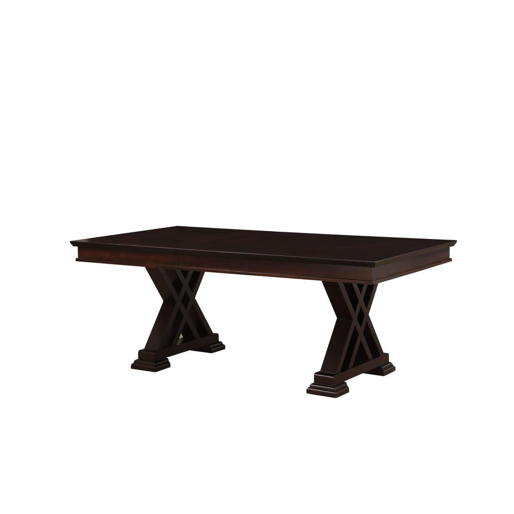 Acme 71855 Katrien Espresso Wood Finish Dining Table